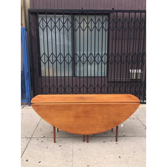 Mid-Century Drop Leaf Dining Table - Image 3 of 10