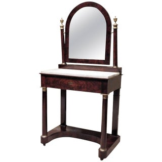 Charles X Empire Mahogany Dressing Table, France, Circa 1820 For Sale