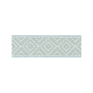Scalamandre Medina Embroidered Tape, Sky For Sale