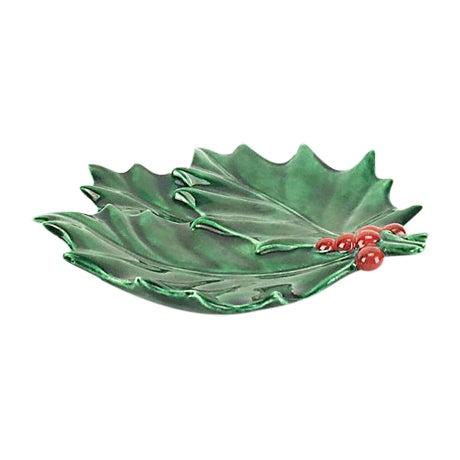 Vintage Christmas Holly Leaf Dish - Image 1 of 4