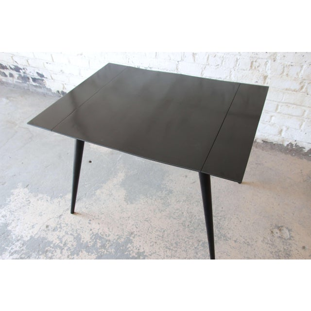 Planner Group Paul McCobb Planner Group Ebonized Dinette Table For Sale - Image 4 of 10