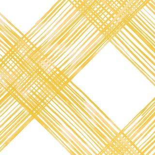 Sample - Schumacher Traverse Wallpaper in Linen For Sale