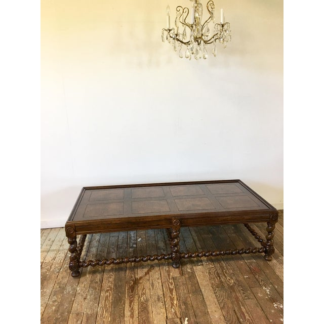 A Handsome Vintage Henredon Coffee Table With Barley Twist Legs This Classic Design Is Substantial