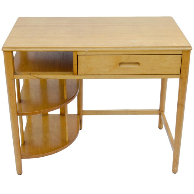 Mid-Century Hill-Rom Maple Desk For Sale - Image 5 of 8
