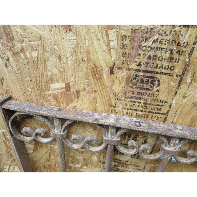 Antique Victorian Iron Gate Window Garden Fence Architectural Salvage - Image 6 of 6