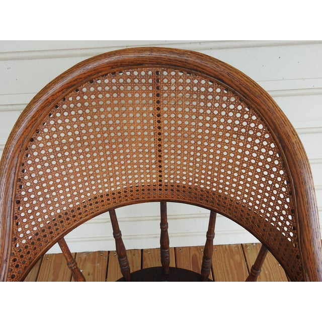 Antique Oak Cane Back Chair For Sale - Image 9 of 10
