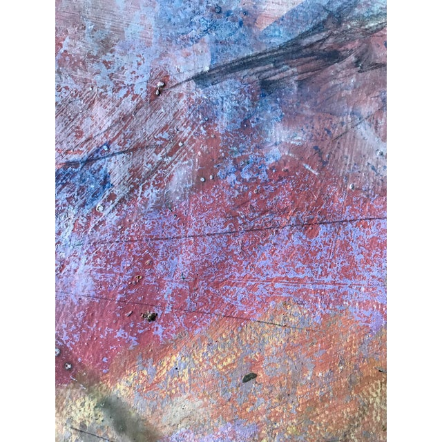 1980s 1980s Abstract Bay Area Artist Pink and Purple Fade For Sale - Image 5 of 6
