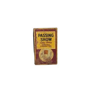 1930s Vintage Metal Passing Show Cigarette Box For Sale