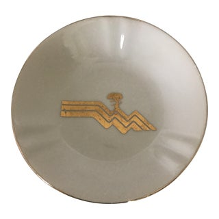 The Lodge at Pebble Beach Ceramic & Gold Ashtray For Sale