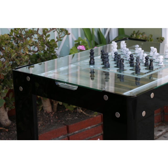 Transparent Vintage Lucite Backgammon and Chest Game Table For Sale - Image 8 of 13