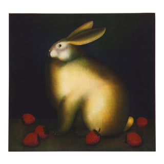 Igor Galanin - Rabit With Strawberries Aquatint Etching For Sale