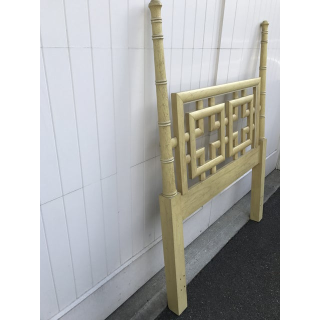 Dixie Vintage Dixie Shangri La Fretwork Twin Headboard For Sale - Image 4 of 6