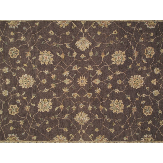 "Brown Zeigler Carpet -- 9'2"" x 12'5"" For Sale - Image 4 of 5"