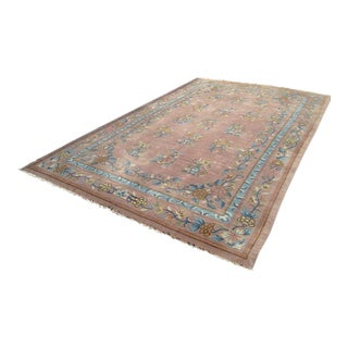 Vintage Handwoven Chinese Peking Oriental Rug-Huge Rare Size For Sale