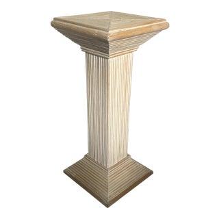 Reeded Pedestal or Drinks Table