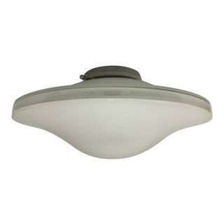 Itre Mid-Century Modern Murano White Glass Ceiling Lamp For Sale