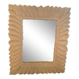 Image of Vintage Hollywood Regency White Lacquered Tropical Palm Tree Leaf Wall Mirror For Sale
