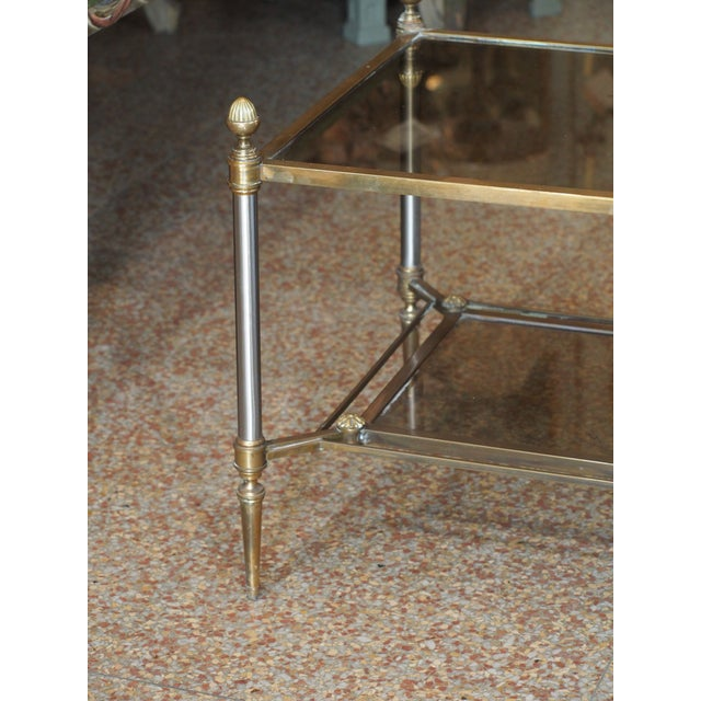 Brass Jansen Style Coffee Table For Sale - Image 7 of 9