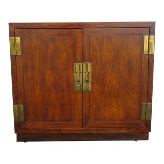 Vintage Hollywood Regency Bar Server Storage Cabinet For Sale