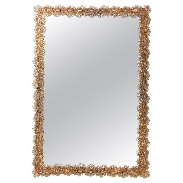 Outstanding Square Illuminated Palwa Crystal Glass Mirror, Model S100w For Sale - Image 11 of 11