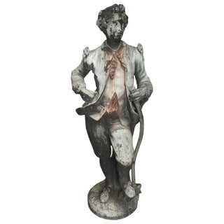 19th C. English Lead Garden Statue For Sale