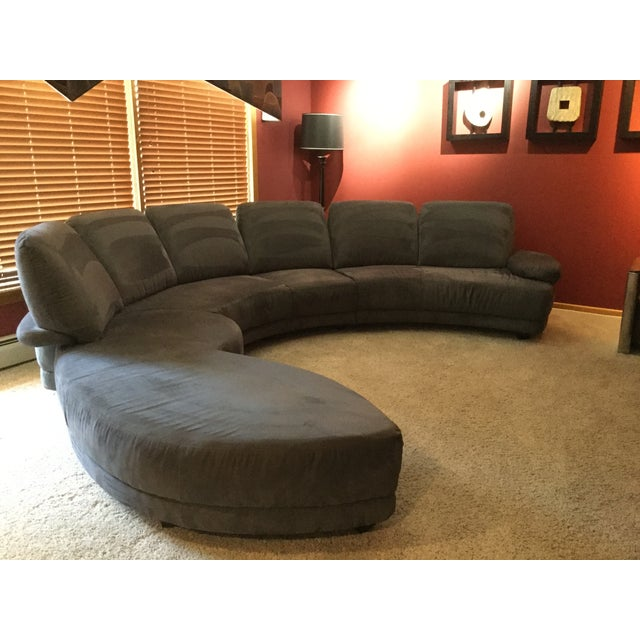 Contemporary Charcoal Upholstered 3-Pc. Sectional Sofa