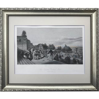 19th Century Central Park New York City Engraving 1870 For Sale