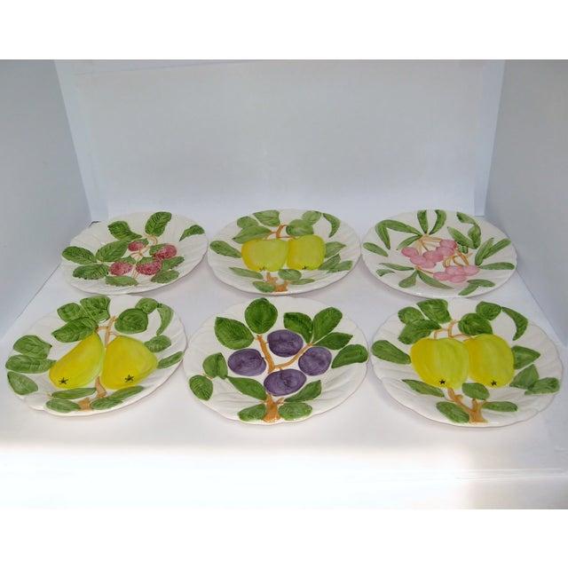 Embossed Porcelain Salad Plates - Set of 6 - Image 3 of 4