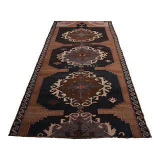 Hand Knotted Natural Colors Tribal Rug Large Long Runner - 5′11″ X 14′1″ For Sale