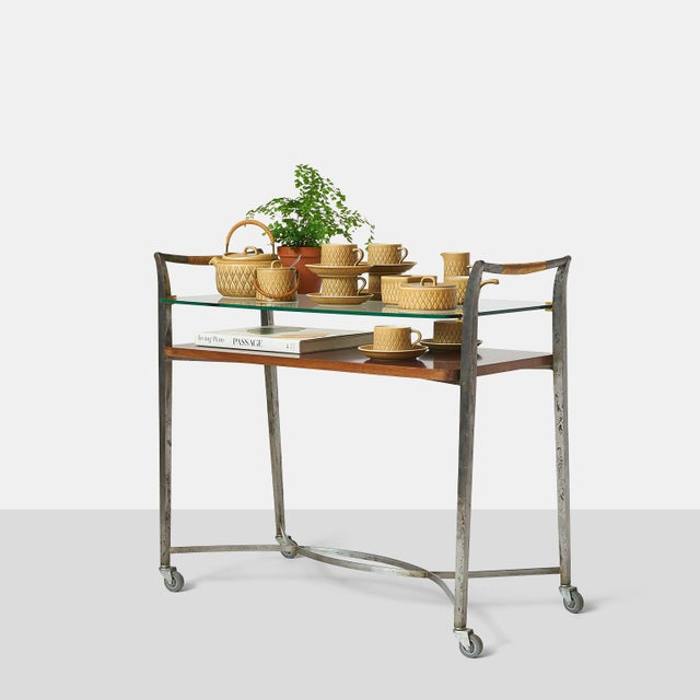 1950s Two Tier Bar Cart by Dominique For Sale - Image 5 of 7