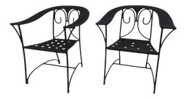 Image of Art Deco Outdoor Chairs