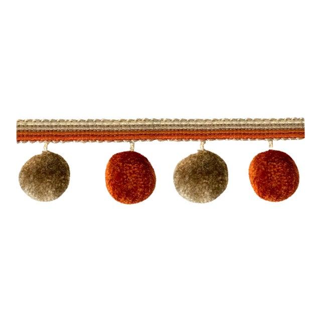 Pompom Tassel Fringe - 6.75 Yard Length For Sale