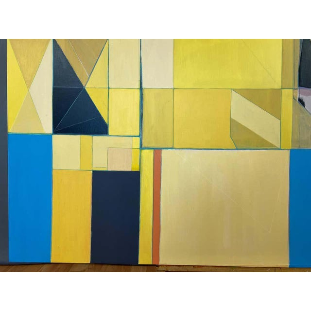 """Yellow Robert English """"Etheric Double"""", Large Abstract Cubist Painting, 1994-1995 For Sale - Image 8 of 13"""