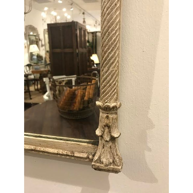 French 19th Century French Carved Swag and Tassel Mirror For Sale - Image 3 of 7