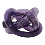 Image of SkLO Wrap Object Glass Knot - Purple For Sale