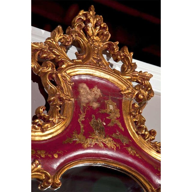 French Chinoiserie Style Mirror by Maison Jansen For Sale - Image 4 of 8