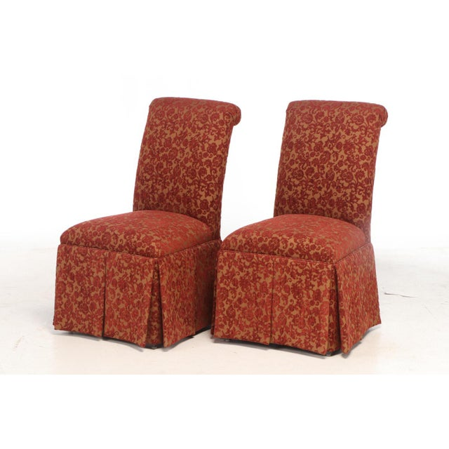 French Designmaster Furniture of North Carolina Upholstered Dining Chairs - a Pair For Sale - Image 3 of 11