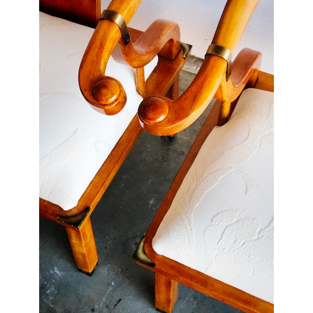 James Mont Vintage James Mont Horseshoe Chairs - a Pair For Sale - Image 4 of 9