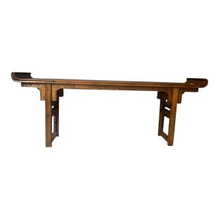 Asian Dark Wood Ornate Table Alter Table For Sale