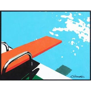 """Diving Always Allowed"" Original Artwork by Michael Giliberti For Sale"