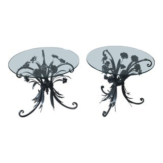 1950s Italian Bouquet Side Tables - a Pair For Sale