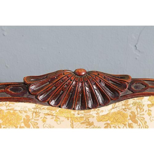 Traditional Carved Asian Chinoiserie Sofa - Image 9 of 11