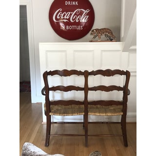 Late 20th Century French Country Mahogany Loveseat Preview