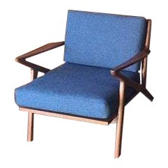 Mid Century Custom Selig Style Z Chair - Image 1 of 6
