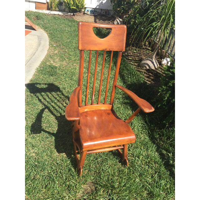 Sikes Arts and Crafts Maple Rocking Chair For Sale - Image 10 of 11