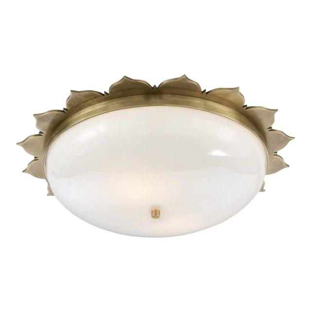 Visual Comfort Alexa Hampton Rachel Flush Mount Ceiling Light in Brass For Sale