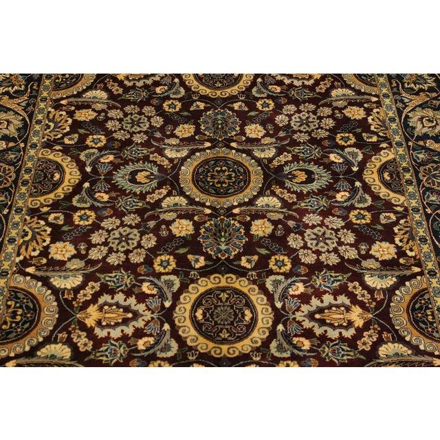 Agra Tabriz 16x18 Veg. Pak-Persian Lisabeth Purple/Blue Wool Rug - 4'7 X 7'3 For Sale - Image 4 of 8