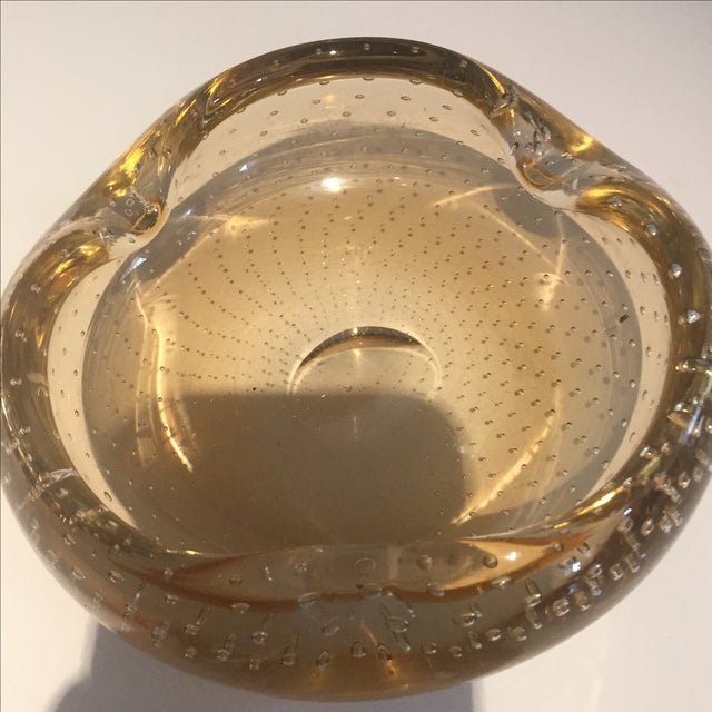 MC Lassie Bubble Gold Murano Ashtray - Image 5 of 5