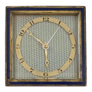 1950s Vintage Hosten + Co. German Square Travel Clock For Sale