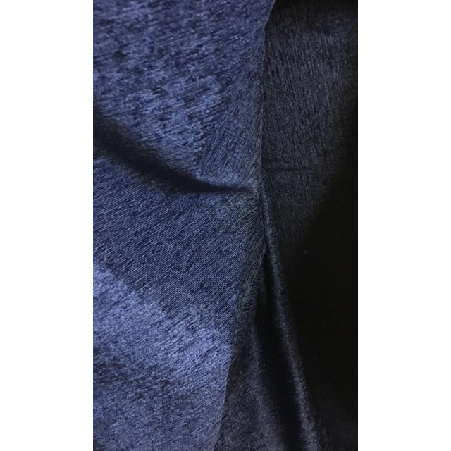 Duralee Navy Blue Chenille Fabric - 5 Yards - Image 3 of 3